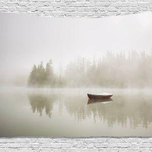 Tapestry Foggy Lake Print Wall Hanging Backdrop